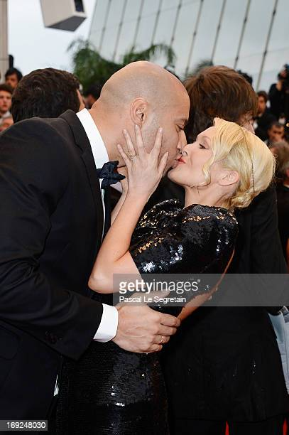 Xavier Delarue and TatianaLaurens Delarue attend the 'All Is Lost' Premiere during the 66th Annual Cannes Film Festival at Palais des Festivals on...