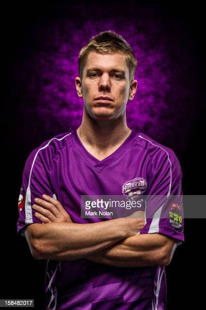 Xavier Doherty of the Hobart Hurricanes poses during a 2012/13 Big Bash League portrait session on August 9 2012 in Darwin Australia