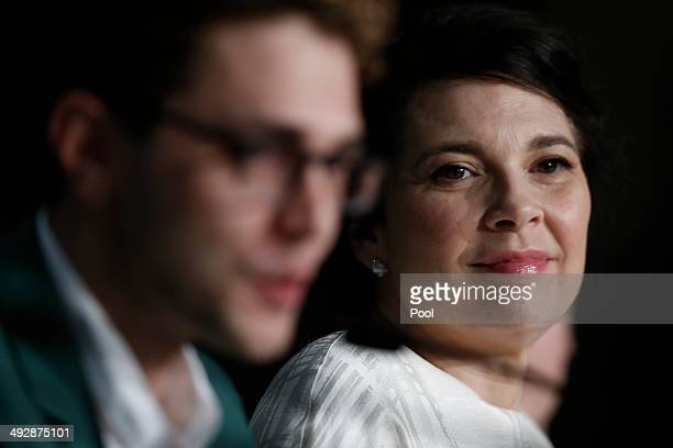 Xavier Dolan and Anne Dorval attend the 'Mommy' press conference at the 67th Annual Cannes Film Festival on May 22 2014 in Cannes France