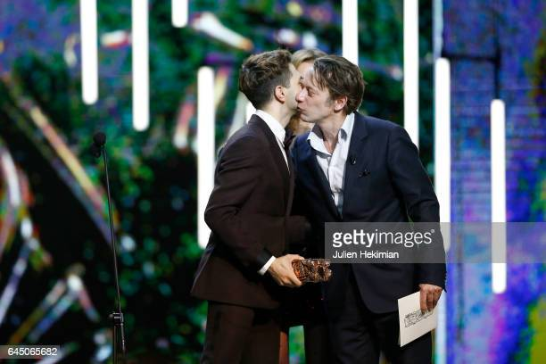 Xavier Dolan receives the Cesar of Best Director for 'Juste la fin du monde' gieven by Sylvie Testud and Mathieu Amalric during the Cesar Film Awards...