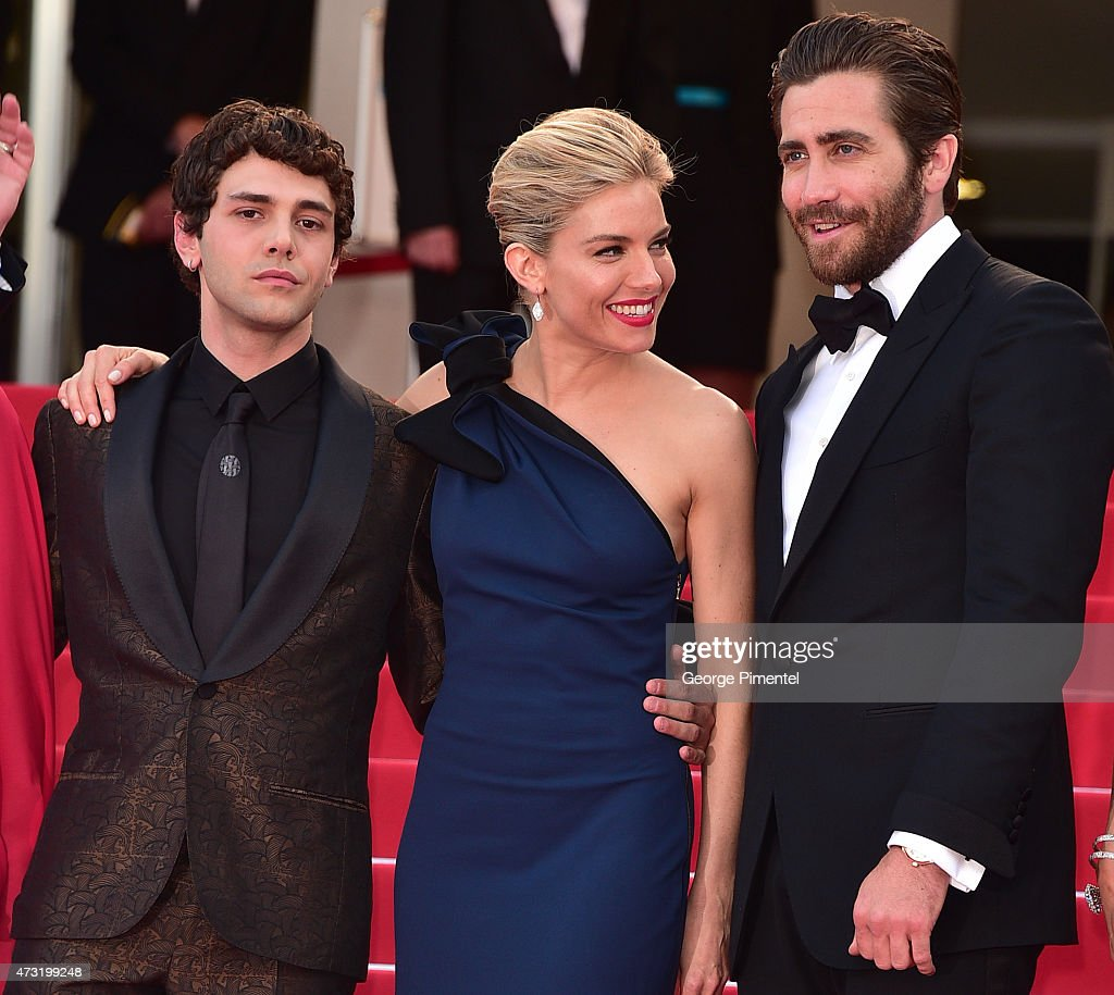 Xavier Dolan, Sienna Miller and Jake Gyllenhaal attend the opening ceremony and premiere of 'La Tete Haute ('Standing Tall') during the 68th annual Cannes Film Festival on May 13, 2015 in Cannes, France.