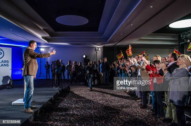 Xavier Garcia Albiol leader of Popular Party of Catalonia during the political rally of the Popular Party of Catalonia The Popular Party of Catalonia...
