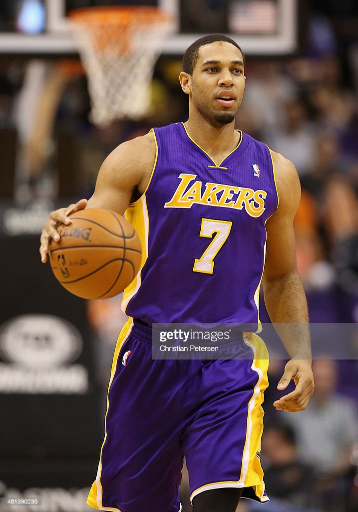 Xavier Henry of the Los Angeles Lakers during the NBA game against the Phoenix Suns at US Airways Center on December 23 2013 in Phoenix Arizona NOTE...