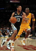 Xavier Henry of the Memphis Grizzlies plays against the Los Angeles Lakers during the game at Staples Center on November 2 2010 in Los Angeles...