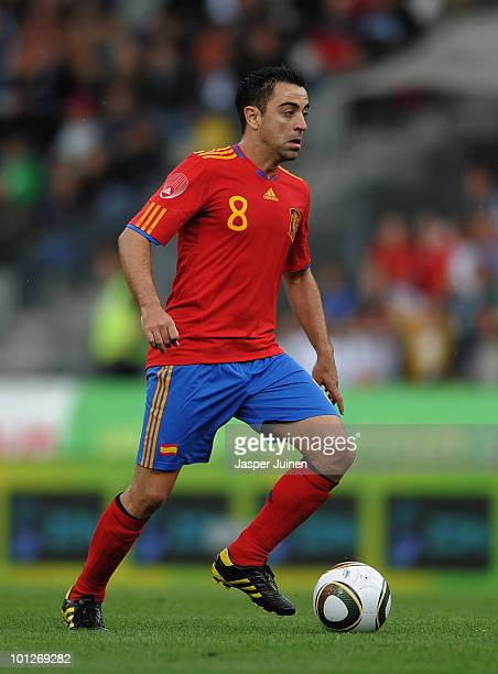 Xavier Hernandez of Spain controls the ball during the International Friendly match between Spain and Saudi Arabia at Stadion Tivoli Neu on May 29...