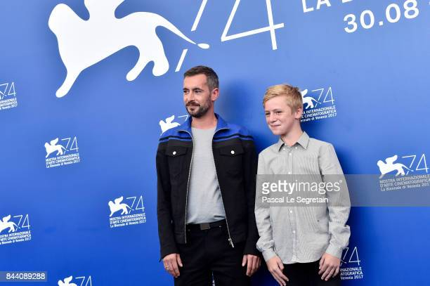 Xavier Legrand and Thomas Gioria attend the 'Jusqu'a La Garde' photocall during the 74th Venice Film Festival on September 8 2017 in Venice Italy