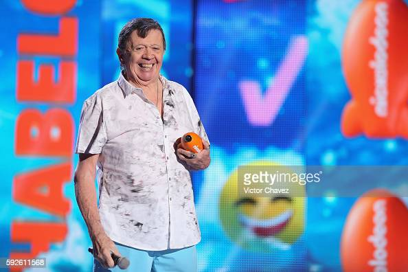 Xavier Lopez 'Chabelo' receives the legend award during the Nickelodeon Kids' Choice Awards Mexico 2016 at Auditorio Nacional on August 20 2016 in...