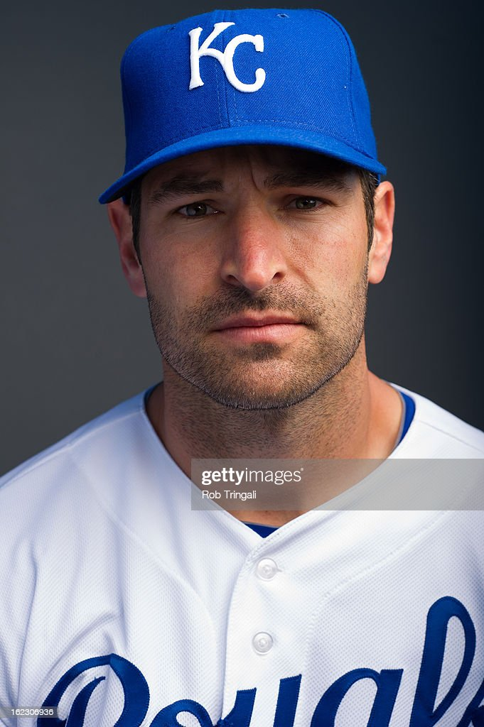 <a gi-track='captionPersonalityLinkClicked' href=/galleries/search?phrase=Xavier+Nady&family=editorial&specificpeople=175893 ng-click='$event.stopPropagation()'>Xavier Nady</a> #23 of the Kansas City Royals poses for a portrait on photo day at the Surprise Sports Complex on February 21, 2013 in Surprise, Arizona.