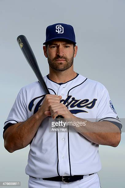Xavier Nady of the San Diego Padres poses for a portrait on Photo Day at the Peoria Sports Complex on February 21 2014 in Peoria Arizona