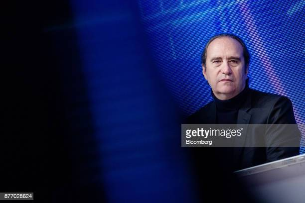 Xavier Niel billionaire and deputy chairman of Iliad SA looks on during the Rendezvous de Bercy economic debate at the French Ministry of Economy in...