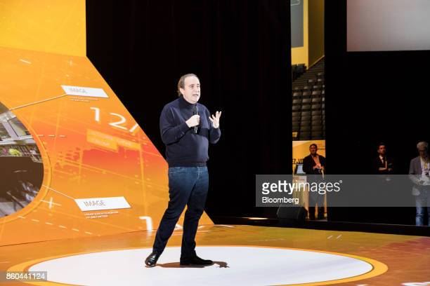 Xavier Niel billionaire and vice chairman of Iliad SA speaks during the BPI France forum in Paris France on Thursday Oct 12 2017 Even as Catalonia...