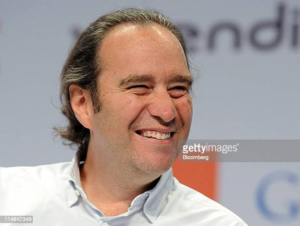 Xavier Niel founder of Iliad SA reacts on the second day of the eG8 Internet Forum in Paris France on Wednesday May 25 2011 The Internet needs...