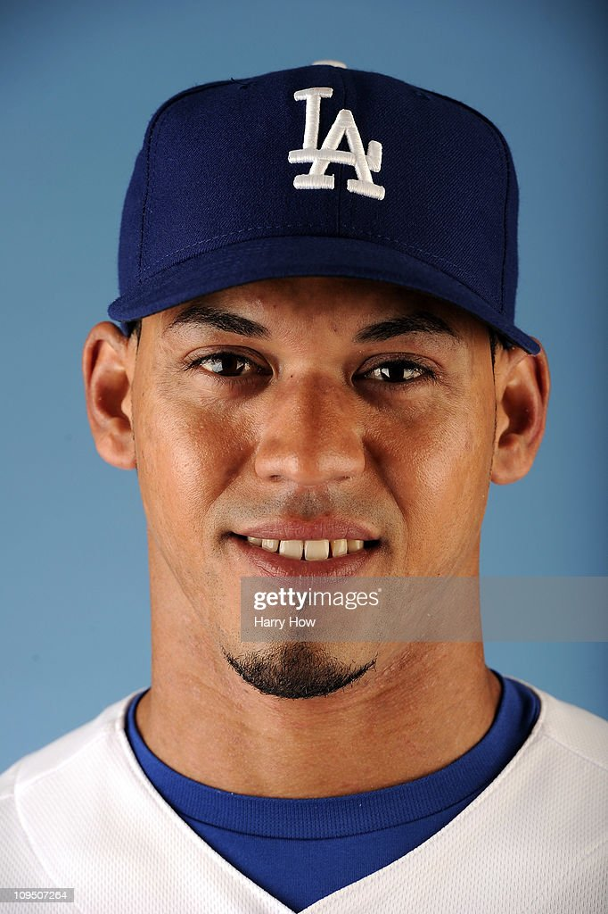 Xavier Paul #3 of the Los Angeles Dodgers poses for a photo on photo day at Camelback Ranch on February 25, 2011 in Glendale, Arizona.