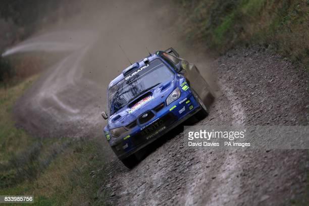 Xavier Pons of Spain in the Subaru Impreza WRC in the Wales Rally GB