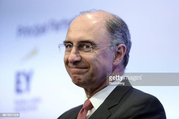Xavier Rolet chief executive officer of London Stock Exchange Group Plc reacts during the International Fintech Conference in London UK on Wednesday...