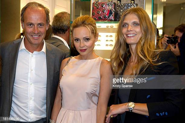 Xavier Romatet Beatrice Rosen and Malgosia Bela attend Vogue Fashion Night Out 2012 on September 6 2012 in Paris France