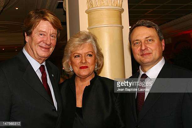 Xavier Roy W Frances Preston and Paul Zilk during MIDEM 2003 Tribute to Xavier Roy at Carlton Hotel in Cannes France