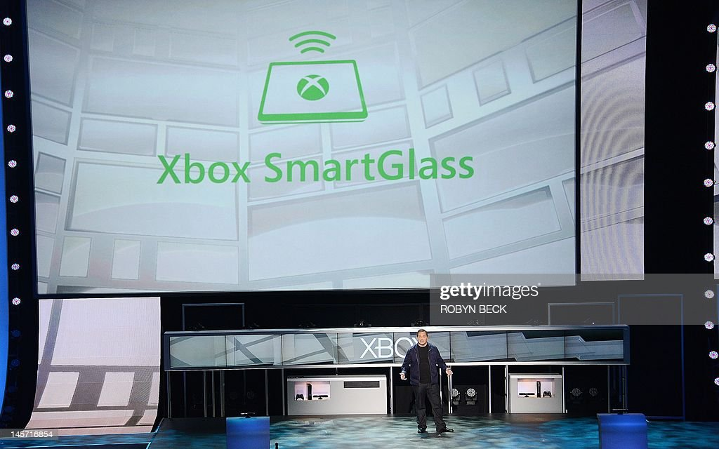 Xbox Live executive Marc Whitten introduces SmartGlass technology at the Microsoft Xbox E3 2012 media briefing in Los Angeles, California, on June 4, 2012. SmartGlass allows users to transfer movies, music and games between smart phones, tablets and the Xbox 360 console. The Electronic Entertainment Expo (E3), the video game industry's biggest event, runs from June 5-7 in Los Angeles.