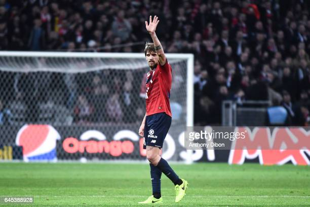 Xeka of Lille during the French Ligue 1 match between Lille and Bordeaux at Stade PierreMauroy on February 25 2017 in Lille France
