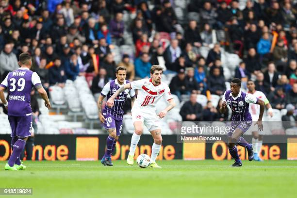 Xeka of Lille during the French Ligue 1 match between Toulouse and Lille at Stadium Municipal on March 5 2017 in Toulouse France