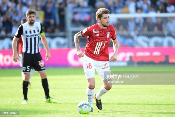 Xeka of Lille during the Ligue 1 match between Angers SCO and Lille OSC at Stade Raymond Kopa on August 27 2017 in Angers