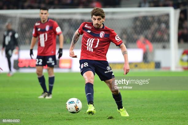 Xeka of Lille during the Ligue 1 match between Lille OSC and Olympique de Marseille at Stade Pierre Mauroy on March 17 2017 in Lille France
