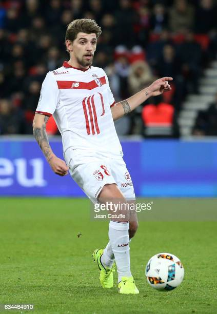 Xeka of Lille in action during the French Ligue 1 match between Paris SaintGermain and Lille OSC at Parc des Princes stadium on February 7 2017 in...