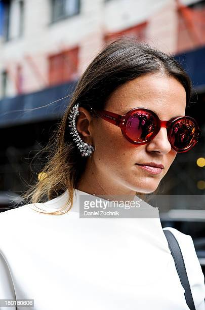 Xena is seen outside the Donna Karan New York show wearing Marc Jacobs sunglasses on September 9 2013 in New York City