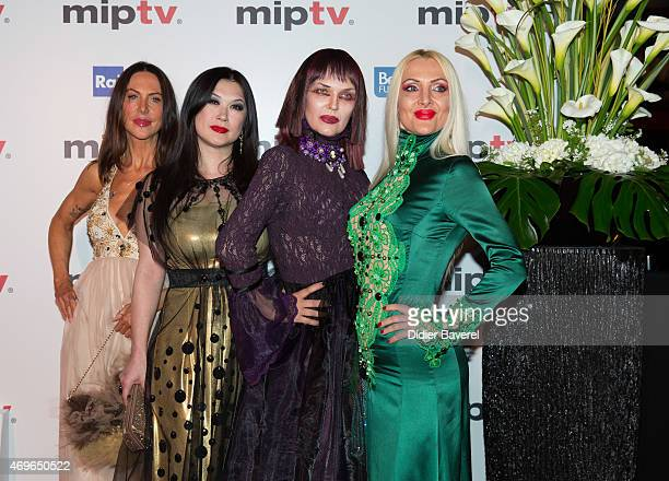 Xena Zupanic Amira Bergmann Violetta Smikalina and Uthe Bacher attend the MIPTV 2015 Opening Party at Hotel Martinez on April 13 2015 in Cannes France