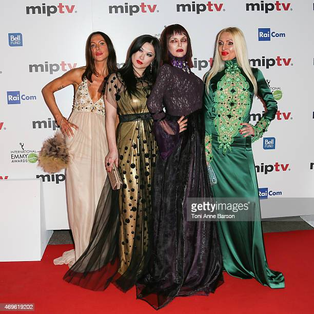 Xena Zupanic Mira Bergmann Violetta Smikalina and Uthe Bacher attend MIPTV opening party as part of MIPTV 2015 on April 13 2015 in Cannes France