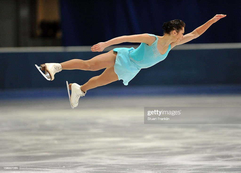 Xenia Markarova of Russia dances during the senior ladies short program of the NRW trophy 2012 at Eissportzentrum on December 8, 2012 in Dortmund, Germany.