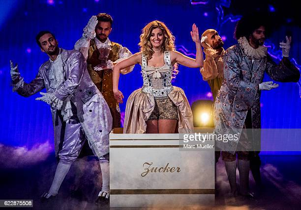 Xenia Prinzessin von Sachsen performs during the first live show of 'Deutschland tanzt' on November 12 2016 in Munich Germany In the first show 16...
