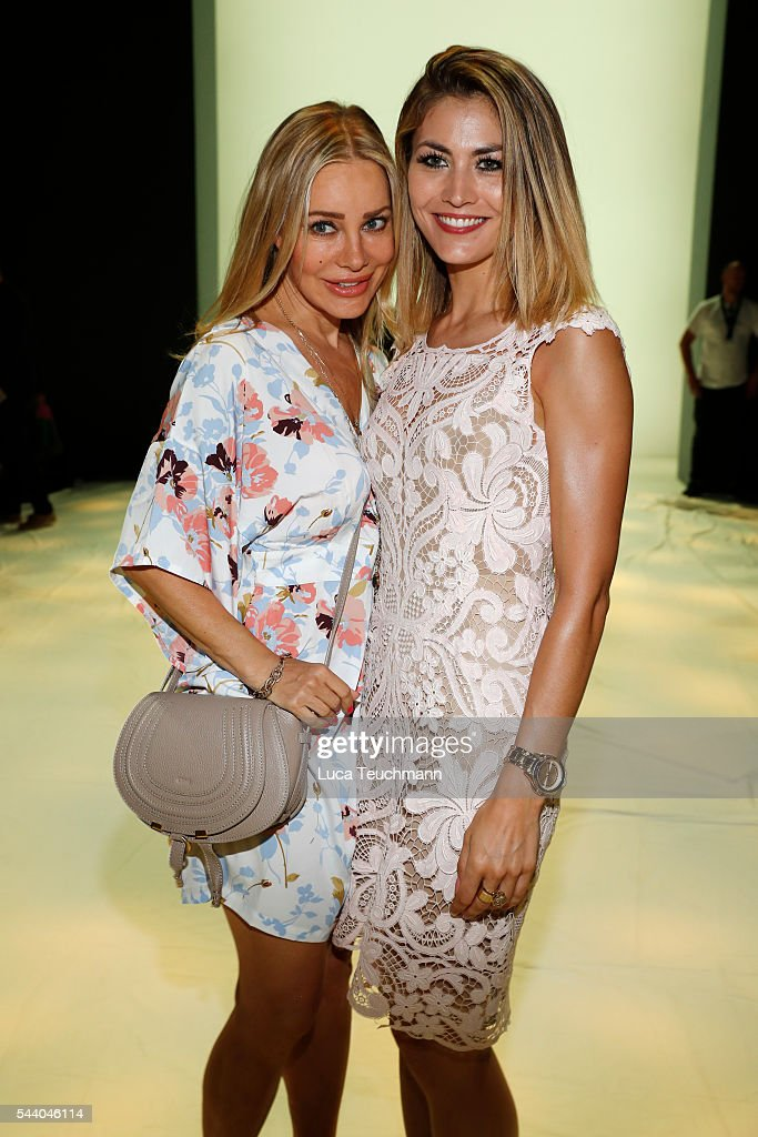 <a gi-track='captionPersonalityLinkClicked' href=/galleries/search?phrase=Xenia+Seeberg&family=editorial&specificpeople=2641773 ng-click='$event.stopPropagation()'>Xenia Seeberg</a> (L) and <a gi-track='captionPersonalityLinkClicked' href=/galleries/search?phrase=Fiona+Erdmann&family=editorial&specificpeople=4605078 ng-click='$event.stopPropagation()'>Fiona Erdmann</a> attend the Irene Luft show during the Mercedes-Benz Fashion Week Berlin Spring/Summer 2017 at Erika Hess Eisstadion on July 1, 2016 in Berlin, Germany.