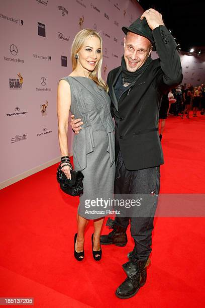 Xenia Seeberg and Sven KilthauLander arrive at Tribute To Bambi at Station on October 17 2013 in Berlin Germany