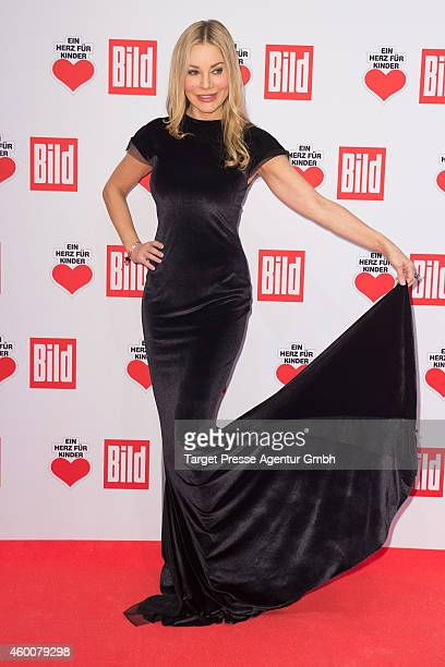 Xenia Seeberg attends the Ein Herz Fuer Kinder Gala 2014 at Tempelhof Airport on December 6 2014 in Berlin Germany