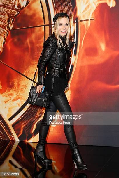 Xenia Seeberg attends the German premiere of the film 'The Hunger Games Catching Fire' at Sony Centre on November 12 2013 in Berlin Germany