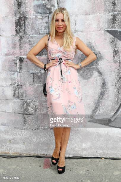 Xenia Seeberg attends the Irene Luft Fashion Show Spring/Summer 2018 at Umspannwerk Kreuzberg on July 5 2017 in Berlin Germany