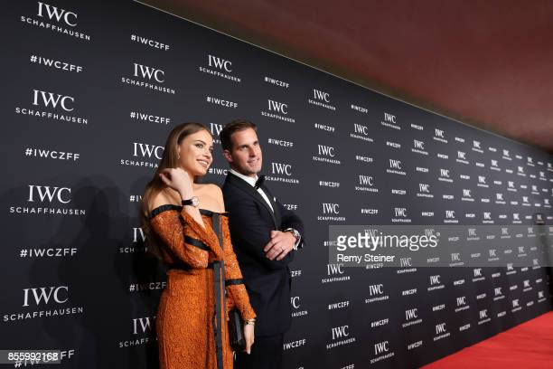 Xenia Tchoumi and CEO IWC Schaffhausen Christoph GraingerHerr attend the IWC 'For the Love of Cinema' Gala Dinner at AURA Zurich on 30 September 2017...