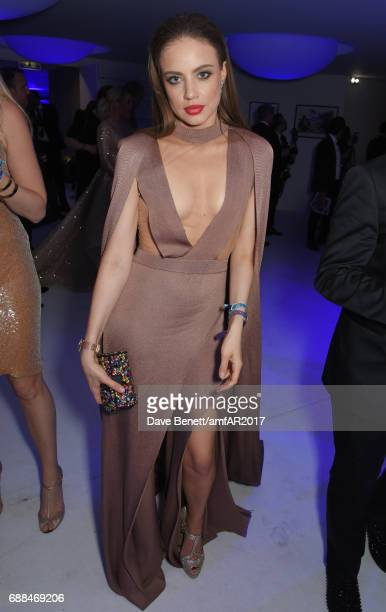 Xenia Tchoumi attends the amfAR Gala Cannes 2017 at Hotel du CapEdenRoc on May 25 2017 in Cap d'Antibes France