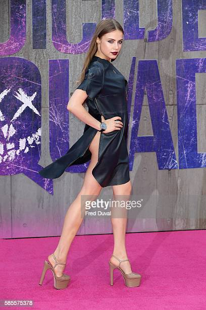 Xenia Tchoumi attends the European Premiere of 'Suicide Squad' at Odeon Leicester Square on August 3 2016 in London England