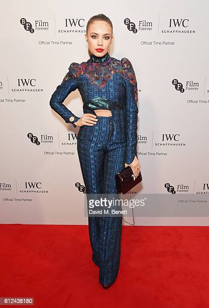 Xenia Tchoumi attends the IWC Schaffhausen Dinner in Honour of the BFI at Rosewood London on October 4 2016 in London England