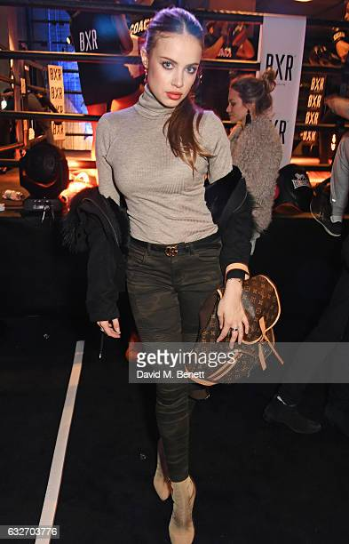 Xenia Tchoumi attends the launch of the BXR London Gym on January 25 2017 in London England