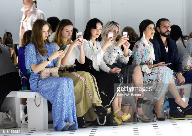 Xenia Tchoumi Niomi Smart Betty Bachz Camille Benett and Ola Farahat attend Temperley London Fashion Show SS 18 during London Fashion Week at The...