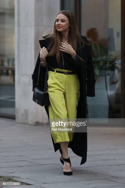 Xenia Tchoumi seen arriving at the BBC studios on March 2 2017 in London England