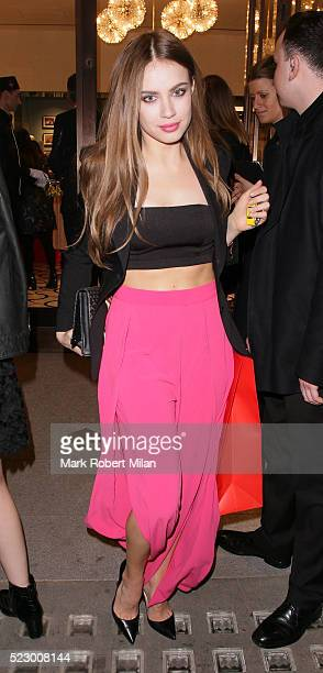 Xenia Tchoumitcheva attending Kate Spade New York flagship store opening party on April 21 2016 in London England