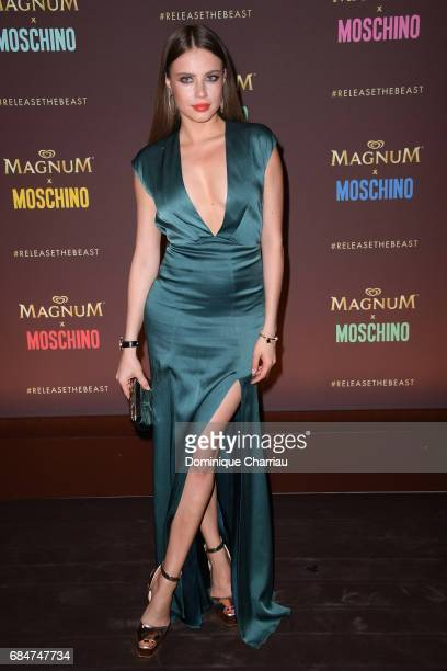 Xenia Tchoumitcheva attends Magnum party during the 70th annual Cannes Film Festival at Magnum Beach on May 18 2017 in Cannes France