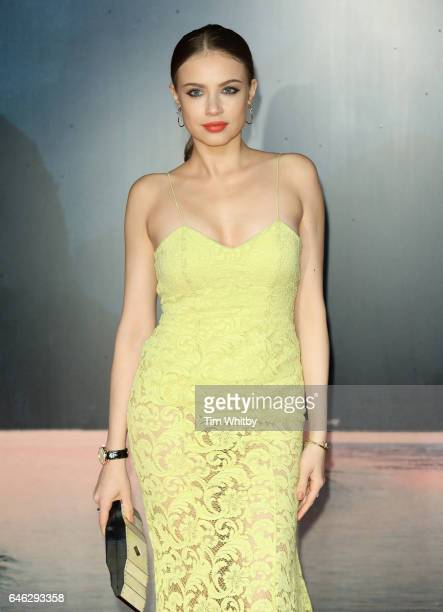 Xenia Tchoumitcheva attends the European premiere of 'Kong Skull Island' at the Cineworld Empire Leicester Square on February 28 2017 in London...
