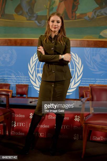 Xenia Tchoumitcheva poses at the United Nations Office at Geneva on March 7 2017 in Geneva Switzerland To celebrate International Women's Day the...