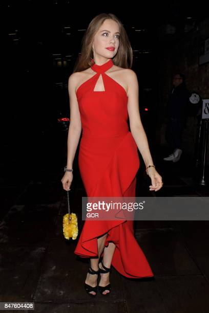 Xenia Tchoumitcheva seen at Ralph and Russo show during London Fashion Week September 2017 on September 15 2017 in London England