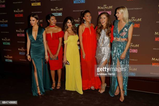 Xenia Tchoumitcheva Shanti Tan Ischtar Isik Paulina Swarovski Victoria Swarovski and Lena Gercke attend Magnum party during the 70th annual Cannes...